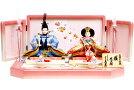【雛人形送料無料】久月作「よろこび雛」二人親王平飾り(S-33101OU)