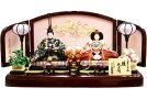 【雛人形送料無料】久月作「よろこび雛」二人親王平飾り(S-33126)