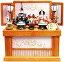 【雛人形送料無料】吉徳大光「花ひいな」二人親王コンパクト収納飾り(605-479)