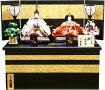 【雛人形送料無料】久月作「よろこび雛」二人親王コンパクト収納飾り(S-33183)