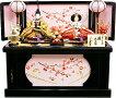 【雛人形送料無料】久月作「よろこび雛」二人親王コンパクト収納飾り(S-33226C)