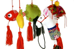 【雛人形】久月作さげもん「吊るし雛夢」アクリルケース飾りSYM-1