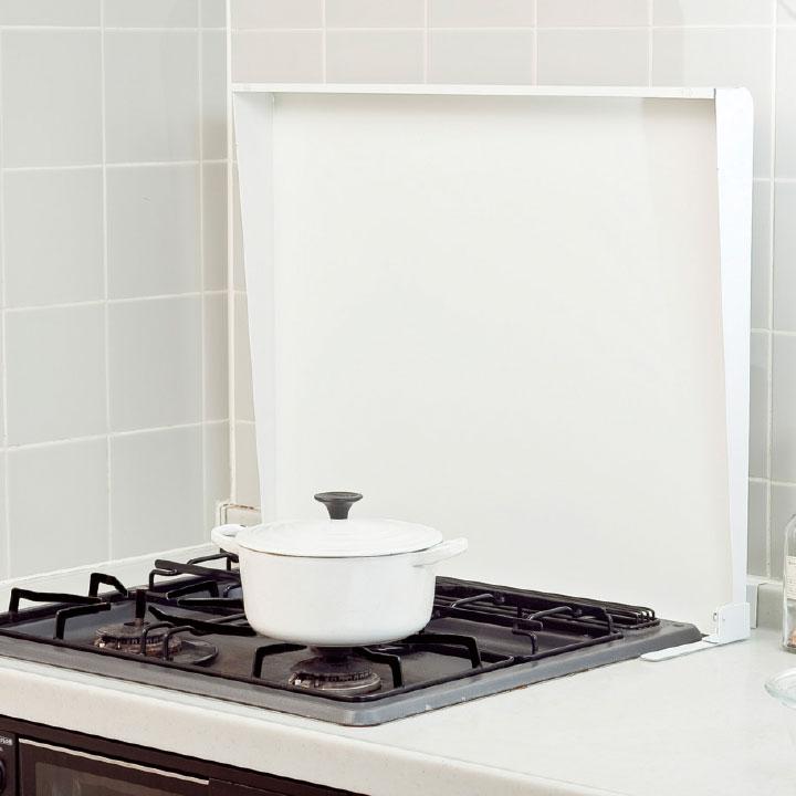 【即納】【在庫有り】コンロカバー スチール 75cm用 IK2-75W ホワイト システムキッチン用