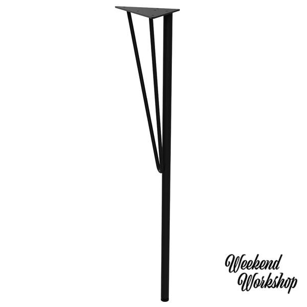 平安伸銅 Weekend Workshop ウィークエンドワークショップ スチールテーブル脚 WTK-1 黒