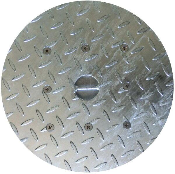 一部地域除く オーケーグレーチングスチール製縞鋼板マンホール鉄蓋(溶融亜鉛めっき仕上げ)桝穴400用JMH-40φ450縞鋼板