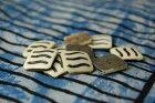 インド手彫りボタン10個セット(水牛の骨)