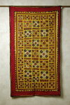 インドのミラー刺繍のタペストリー(飾り布)