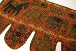 インドアニマルアップリケのトーラン(暖簾)