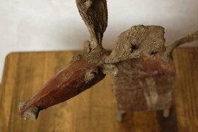 タイ木製鹿のオブジェ