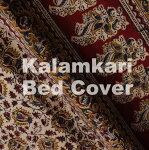 南インドの草木染めカラムカリベッドカバーシングルサイズ