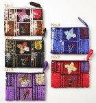 インドネシアグラスビーズ刺繍ポーチ