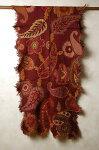 インド刺繍入り♪カットワークフリンジウールストール