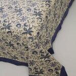 インド木版染めシングルベッドカバー