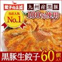 [餃子の王国]【黒豚生餃子 60個】当店人気NO.1餃子国産(主に九州...