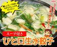 [餃子の王国]【スープ付き ひと口生水餃子 15個】 スープ付きなのでアレンジ楽々♪お鍋にもピッタリ!