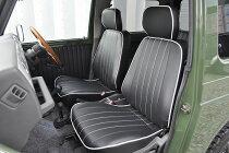 シートカバーヴィンテージDXジムニーJA22ブラック(ケースペック製)【ジムニーパーツ】
