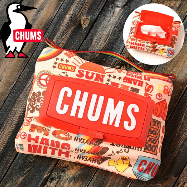 CHUMSチャムスウェットティッシュケースWetTissueCaseウェットティッシュケース収納袋ポーチアウトドアキャンプグラン