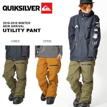 送料無料 スノーボードウェア QUIKSILVER クイックシルバー メンズ UTILITY PANT スノボ スノーボード スノー パンツ ウェア 2018-2019冬新作 18-19 18/19 20%off