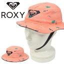 35%off バケットハット ROXY ロキシー キッズ ジュニア 女の子 BOBBY ストラップ付き 総柄 ハット あご紐 帽子 サーフ アウトドア 通学 水あそび 熱中症対策 35%off