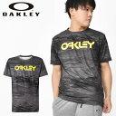 得割30 水陸両用 半袖 ラッシュ Tシャツ OAKLEY オークリー メンズ RASH TEE 10.0 ラッシュガード UVカット Tシャツ サーフ サーフィン ボディボード プール 海水浴 マリンスポーツ アウトドア UPF50+ FOA400852 00G 1