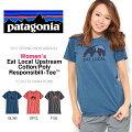 半袖TシャツパタゴニアPatagoniaイートローカルアップストリームコットンポリTシャツレディースフロント熊プリント2017春新作国内正規品アウトドア