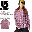 長袖 Tシャツ バートン BURTON Women's Base Layer Midweight Crew レディース ロンT インナー 花柄 フラワー スノボ スノーボード ウェア スキー SNOWBOARD WEAR 30%off
