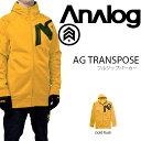 送料無料 【得割40】 パーカー アナログ ANALOG TRANSPOSE メンズ フルジップパーカー フーディー ジャケット スノボ スノーボード スノーボードウエア PARKA JACKET