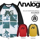 長袖Tシャツ アナログ ANALOG AGONIZE メンズ ロンT ビッグロゴ ロゴTシャツ ウェア スノボ スノーボード スキー カジュアル アウトドア【得割50】