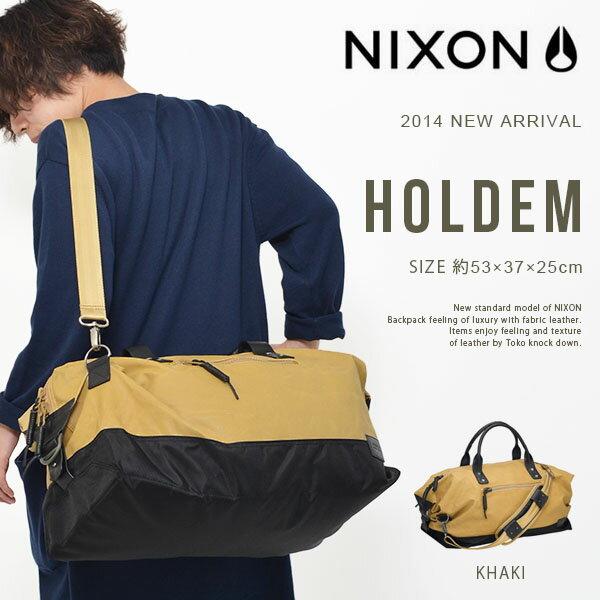 送料無料ボストンバッグNIXONニクソンHOLDEMホールデンメンズレディースショルダーバッグダッフルバッグ肩掛けショルダーバッグスケートストリートBAGかばん鞄カバン得割30