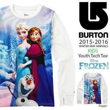 ラス1 長袖 Tシャツ バートン BURTON Youth Tech Tee キッズ 子供 ジュニア 女の子 ロンT インナー スノボ スノーボード スキー SNOWBOARD WEAR アナと雪の女王 アナ雪 ディズニー Disney 40%off 現品限り