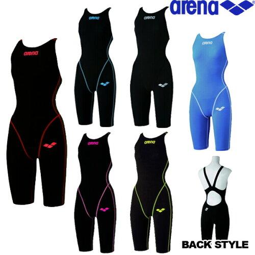 《送料無料》アリーナハーフスパッツ オープンバック ARN-2000W フィットネス 競泳水着 ...