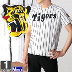 阪神タイガース 復刻 レプリカ ジャージ 2001年 ホーム HTU-1000 1606 ユニフォーム 半袖 トップス 野球 阪神 タイガース 応援 観戦 復刻版 紳士