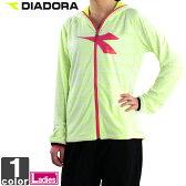 ディアドラ【DIADORA】レディース ランニング ライトニット ジャケット RL6116 1608 アウター 上着 長袖 吸汗速乾 トレーニング 運動 ジョギング フルジップ ウィメンズ 婦人