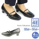 【クーポンで5%OFF】パンプス フリオバレンチノ Furio Valentino レディース KQ3453 ワンストラップ プレーンパンプス 2012 ローヒール きれいめ 幅広 シューズ ラウンドトゥ 4E 4cmヒール ビジネスシューズ
