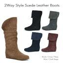 【SALE セール】【送料無料】2Wayスタイル 牛革ショートブーツ 9001 本革 ロングブーツ レディース 靴 レザー 黒 【あす楽対応】【02P03Dec16】