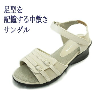 Fatigue ROCKERBAR (ロッカーバー) one-touch belt Sandals walkable / outside comfort fs3gm / valgus toe support / Office / company sandals