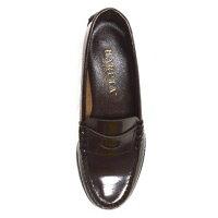 【送料無料】ハルタ4505レディースローファー本革HARUTA3EEEE女子コインローファーブラックブラウン通学靴学生小さいサイズ大きいサイズ【あす楽対応】