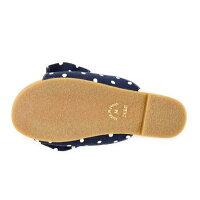 日本製ビックリボンサンダルゆったり幅広ワイズ4ERF-1970(〜25.5cm)ドット柄レディーズ靴大きいサイズ靴ぺたんこサンダルローヒール痛くない疲れにくいブラック黒【あす楽対応】【楽ギフ_包装】