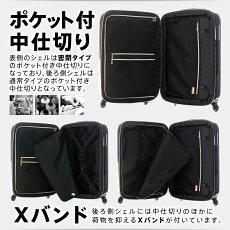 スーツケース(LEGENDWALKER:レジェンドウォーカー)アウトレッド(訳あり)SSサイズ(1泊2泊3泊)ファスナー(B-5083-48)