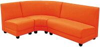 【送料無料】並べ替え自由!コンパクトなコーナーソファー3点セット◆2人掛けソファー+1人掛けソファー+コーナーソファーセット◆2Pソファー1Pソファーラブソファーシングルソファー◆お手入れ簡単!PVC張りオレンジ