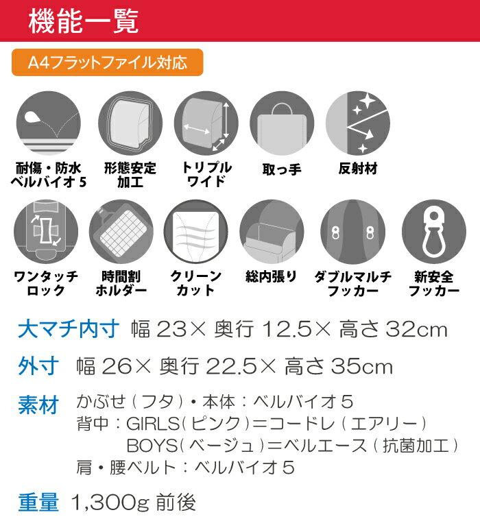 ランドセルララちゃんランドセル2021年度マジかるベルト付きあい女の子コーラルピンクシャーベットピンクA4フラットファイル対応ベルバイオ5ワンタッチロック6年間修理保証シンプルデザインツートンカラー日本製