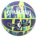 【新品/在庫あり】バスケットボール マーブル ネイビーxマルチ 7号球 83-952J