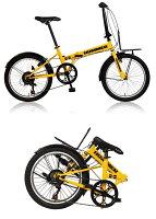 【新品/取寄品】HUMMER FDB207 TANK イエロー (33848) 折り畳み自転車 20インチ シマノ7段変速【北海道・沖縄・離島は送料別途見積り】