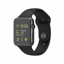 Apple Watch Sport 42mm MJ3T2J/A ブラックスポーツバンド 【新品未開封・ユーザー登録済み】【...