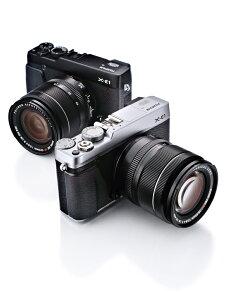 FUJIFILM X-E1 レンズキット シルバー【新品】【在庫品】[送料無料 (一部特殊地域を除く)]