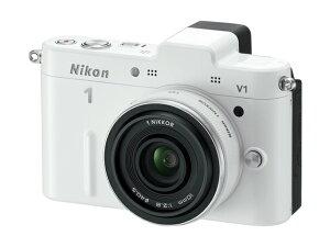 Nikon 1 V1 薄型レンズキット ホワイト【新品】【取寄品】[送料525円]