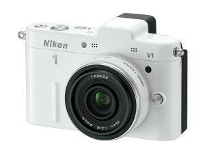 Nikon 1 V1 薄型レンズキット ホワイト【新品】【在庫品】[送料無料 (一部特殊地域を除く)]