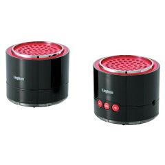 Bluetooth3.0対応 小型セパレートスピーカー/ブラック/レッド LBT-MPSPP50BKRD【新品】【取寄品...