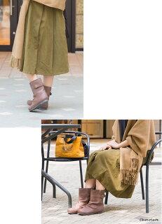 ベルト付きショートブーツブーツレディースくしゅくしゅ黒大きいサイズ新作ブラック2015秋モデルフェイクレザーシンプルショートミドルダークブラウン合皮合成皮革靴痛くない歩きやすい