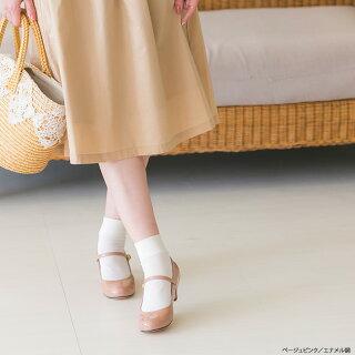 ◆予約商品◆送料無料キレイめラウンドトゥストラップ5cmヒールパンプス痛くないストラップ太ヒールチャンキーヒール靴黒ヒール大きいサイズ2017春夏新作
